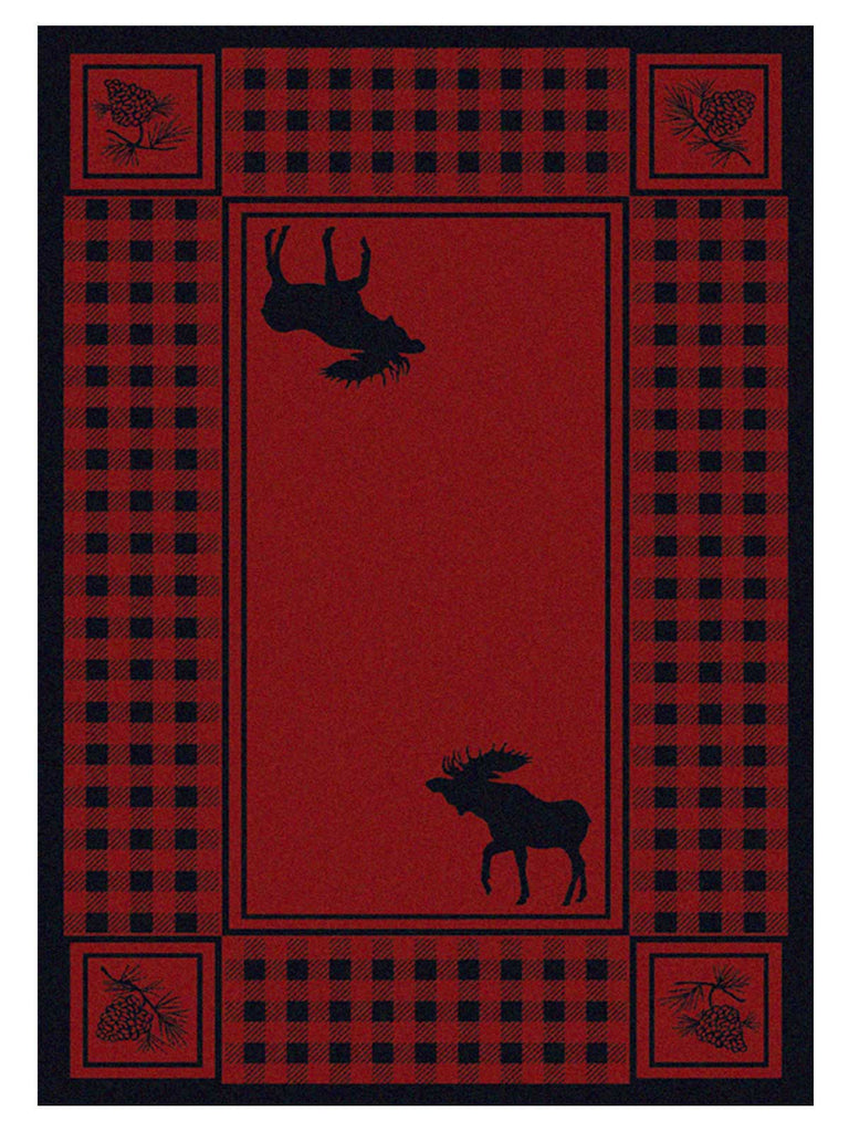 American Dakota Cabin Moose Refuge - Red