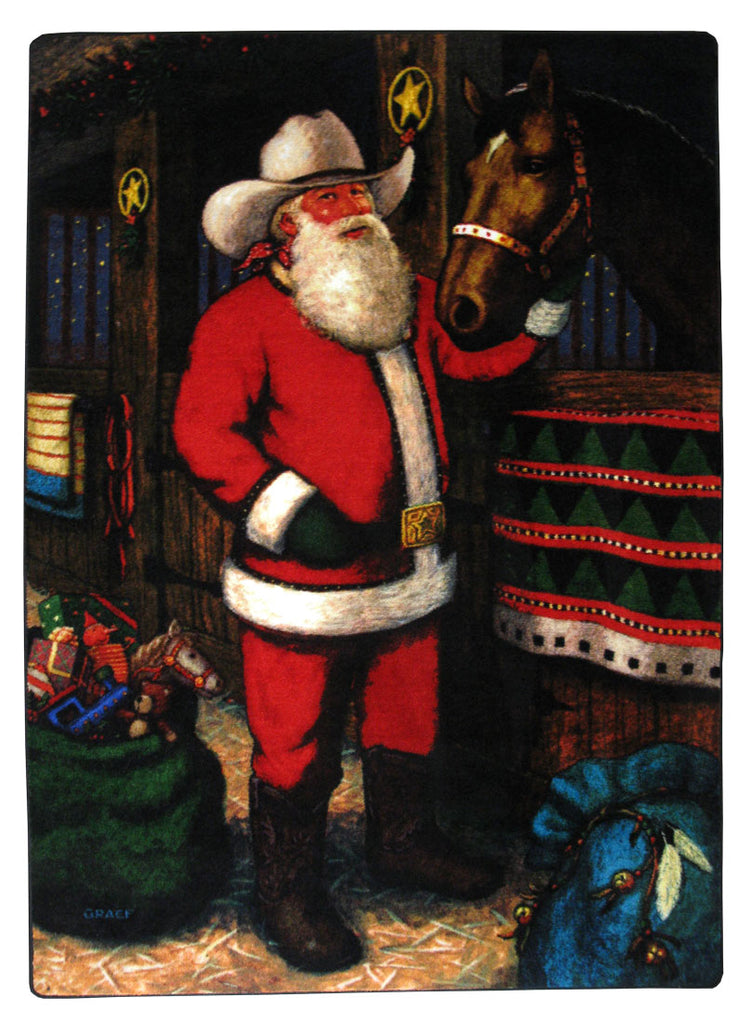 American Dakota Novelty Western Santa - Multi
