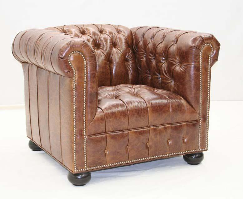 Tufted Chesterfield Club Chair - Old Hickory Tannery
