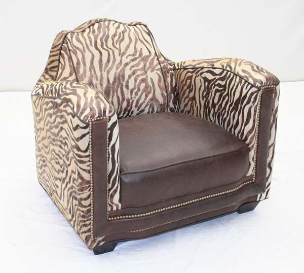 Wild Baby Zebra Chair - Old Hickory Tannery