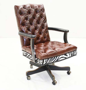 Leather Exotic Office Chair - Old Hickory Tannery