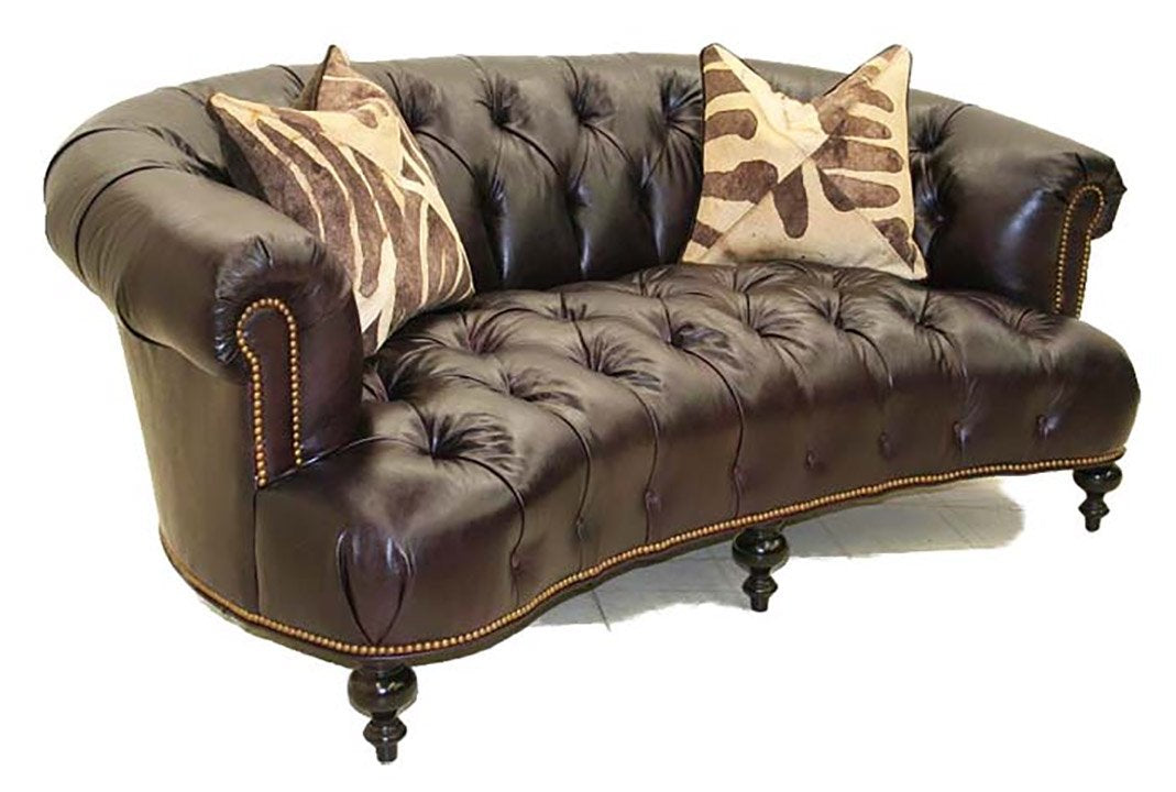 Elegant Presidential Leather Sofa - Old Hickory Tannery