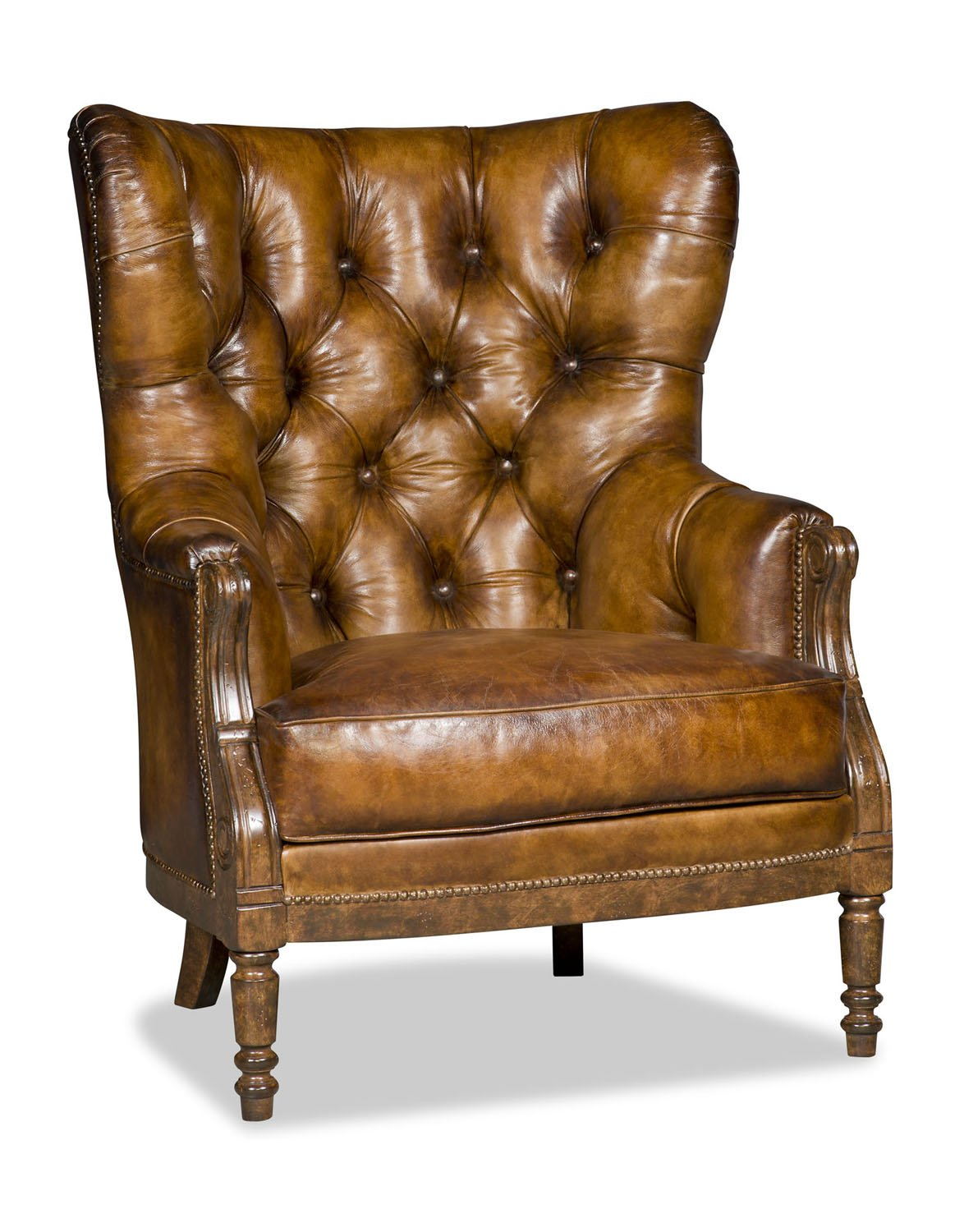 Coby Chair in Chestnut Tufted Leather