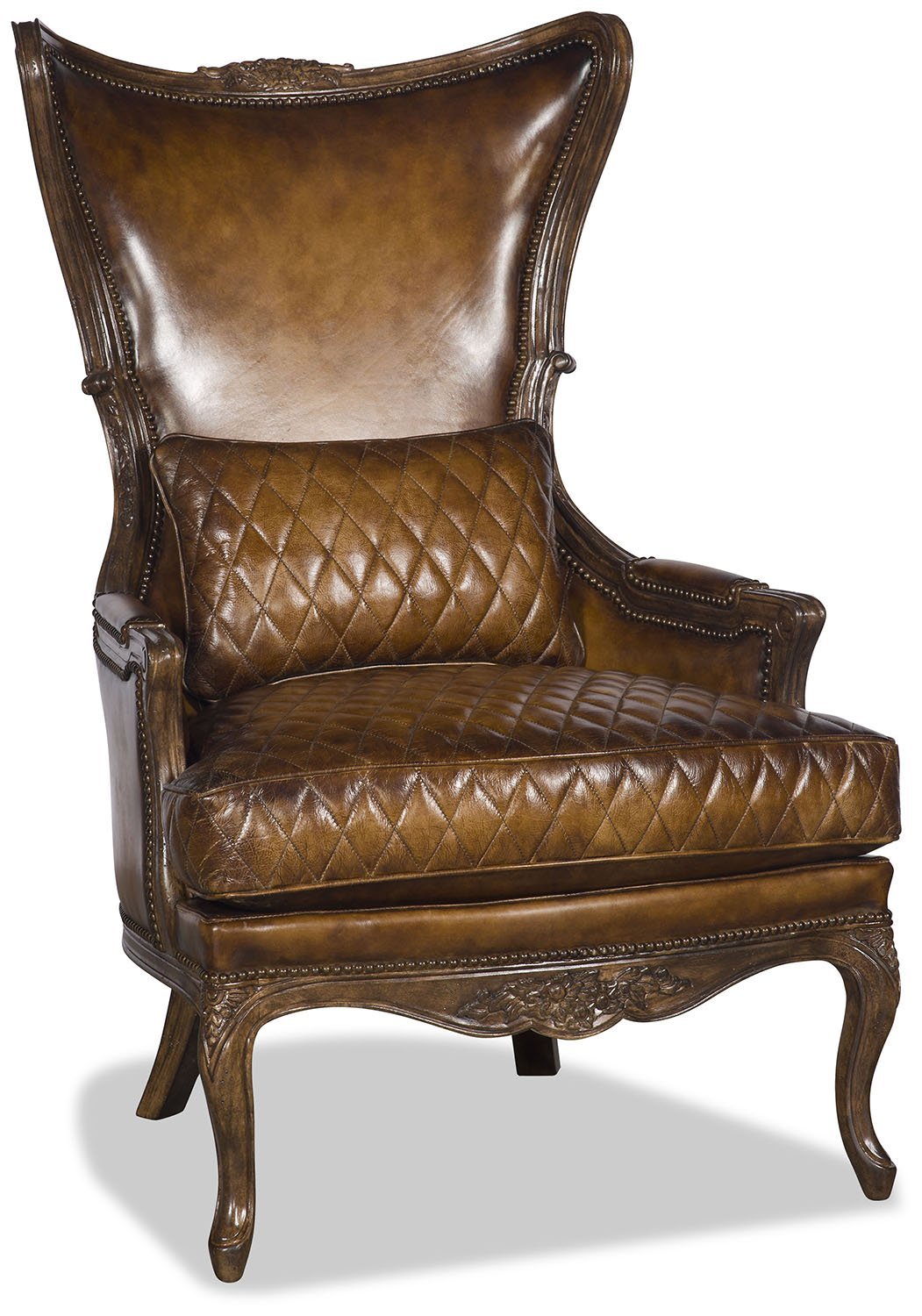 Danica Leather Chair - Chestnut