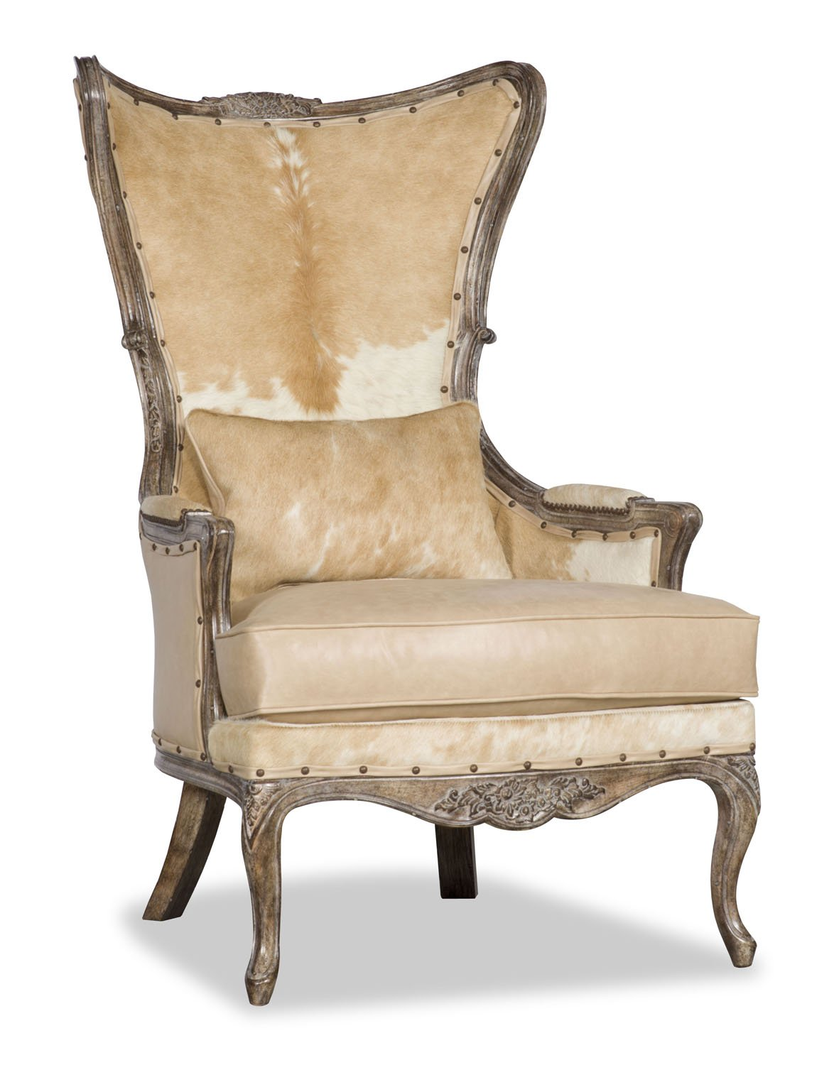 Danice Leather And Cowhide Chair