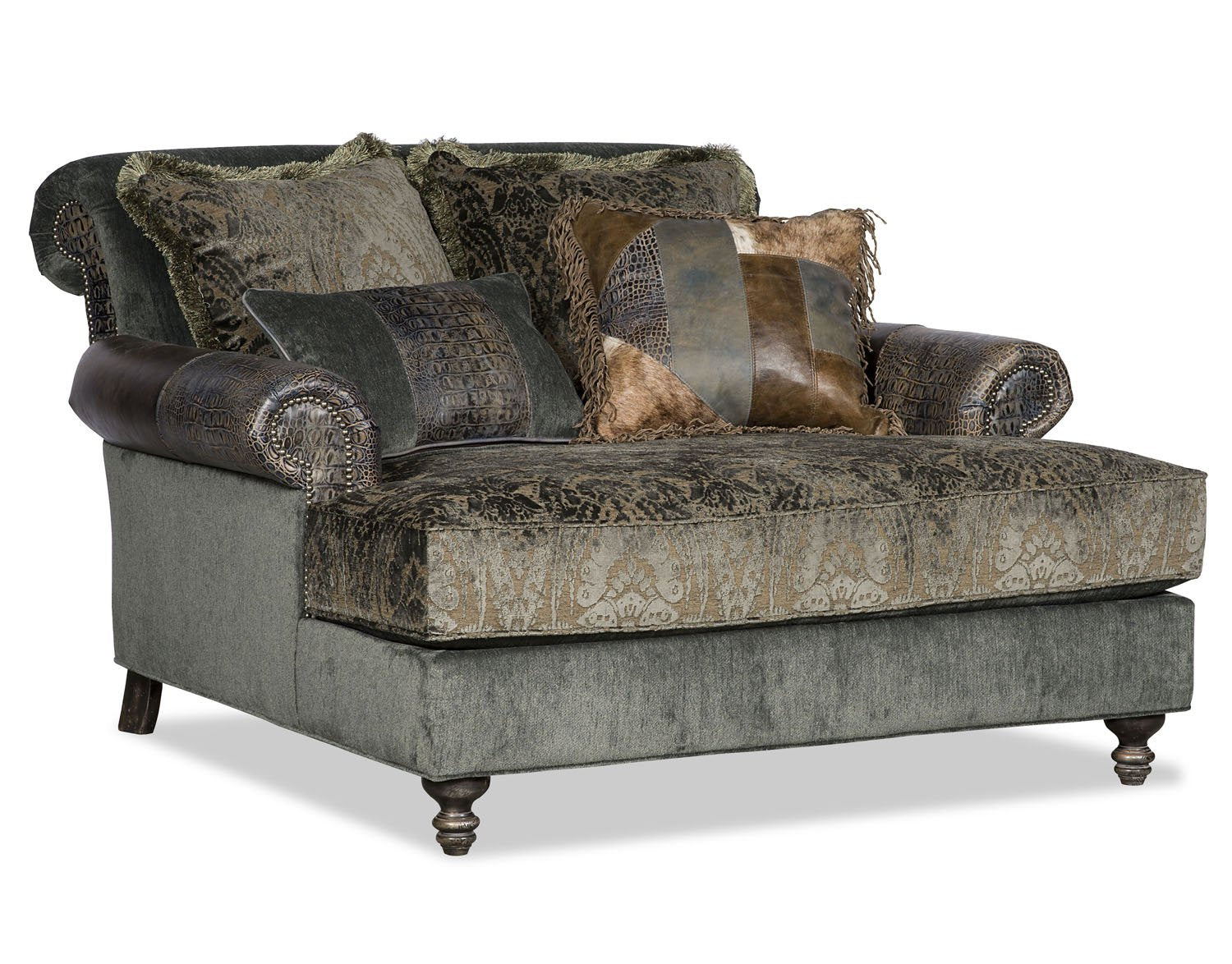 Mackenzie Chaise - Sage with Cowhide