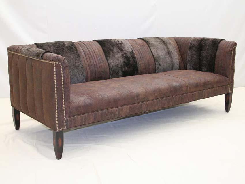 Dirty Gator Rustic Sofa - Old Hickory Tannery
