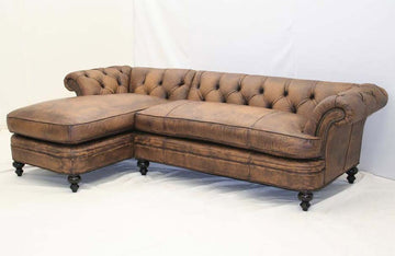 Aged Leather Durango Sectional - Old Hickory Tannery