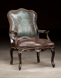 Darcy Chair with Turquoise Croc