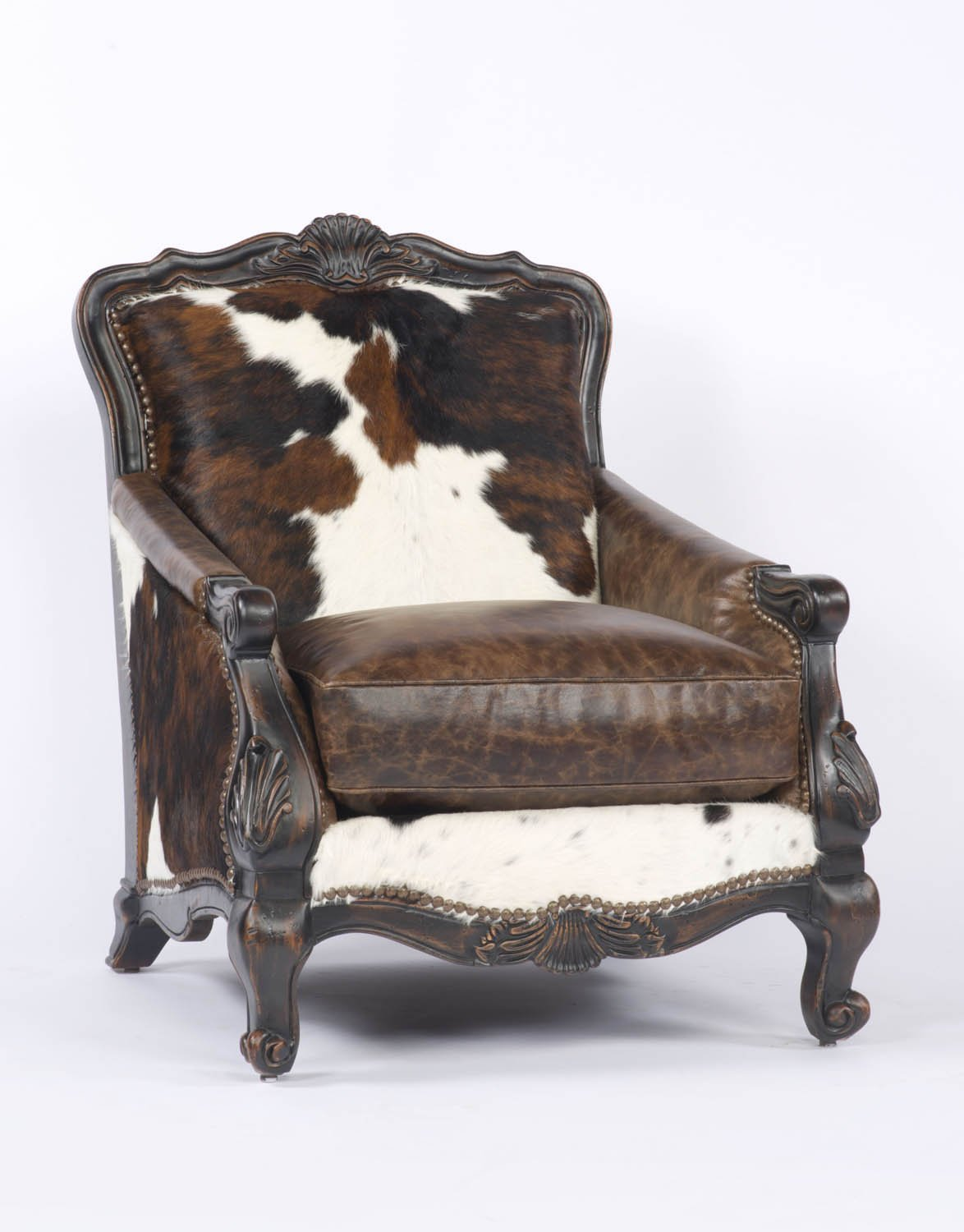 Terrific Buckley Chair In Tricolor Cowhide Frankydiablos Diy Chair Ideas Frankydiabloscom