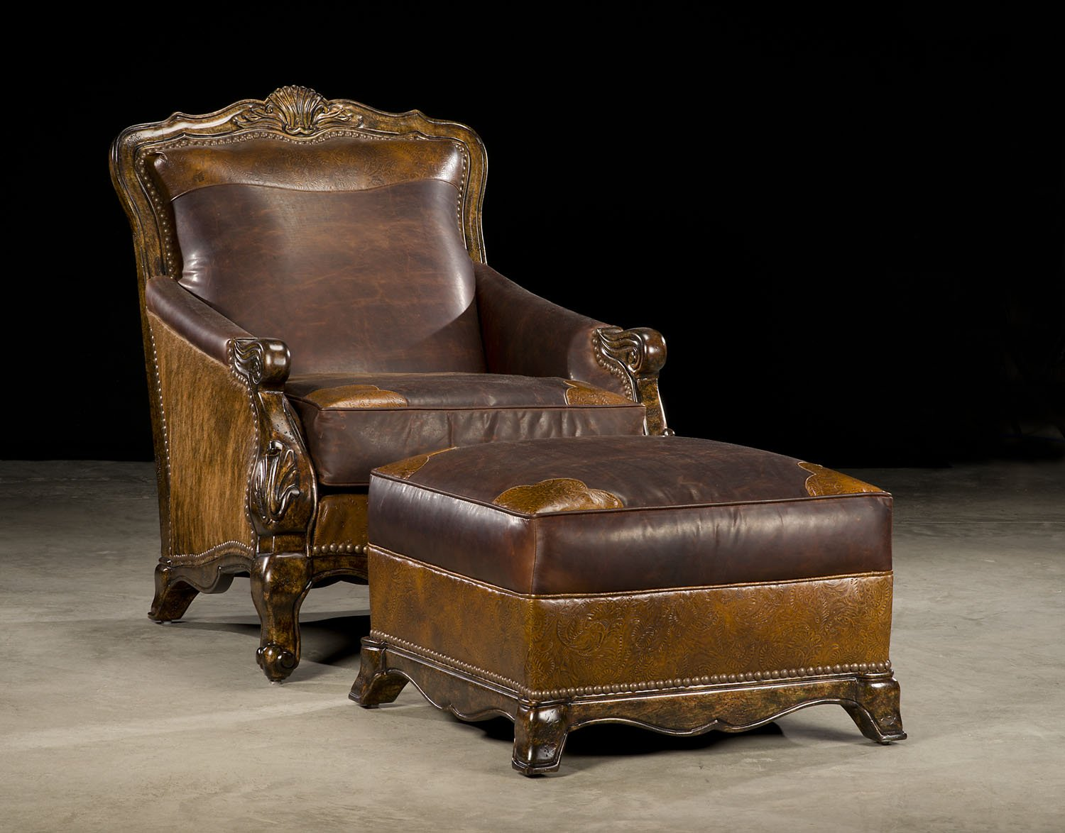 Buckley Chair with Cowhide and Leather