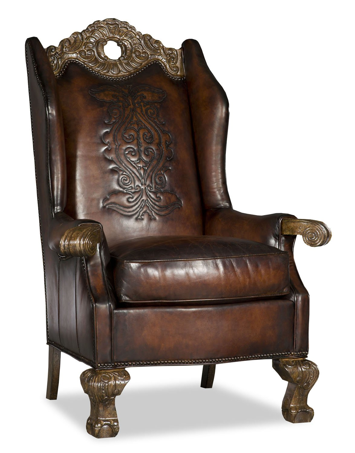 Roxie Leather Kings Chair
