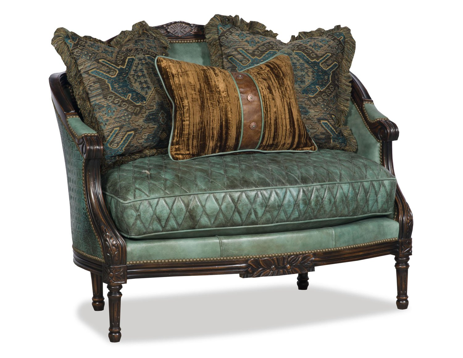 Deidre Accent Chair - Jade Turquoise