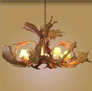 8 Light Fallow Spray Antler Chandelier (AWC-10)