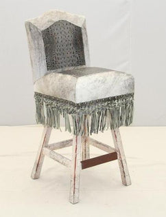 Howling Wolf Western Barstool - Old Hickory Tannery