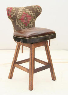 Bridle Reins Western Barstool - Old Hickory Tannery