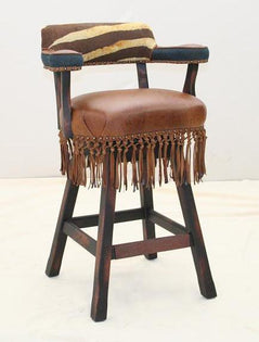 Zebra in The Wild Barstool - Old Hickory Tannery