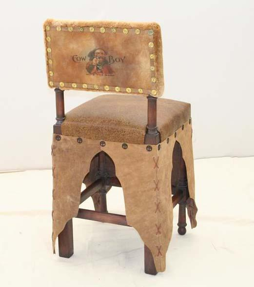 Chaps Western Counter Stool - Old Hickory Tannery