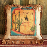 Arizona Map Pillow