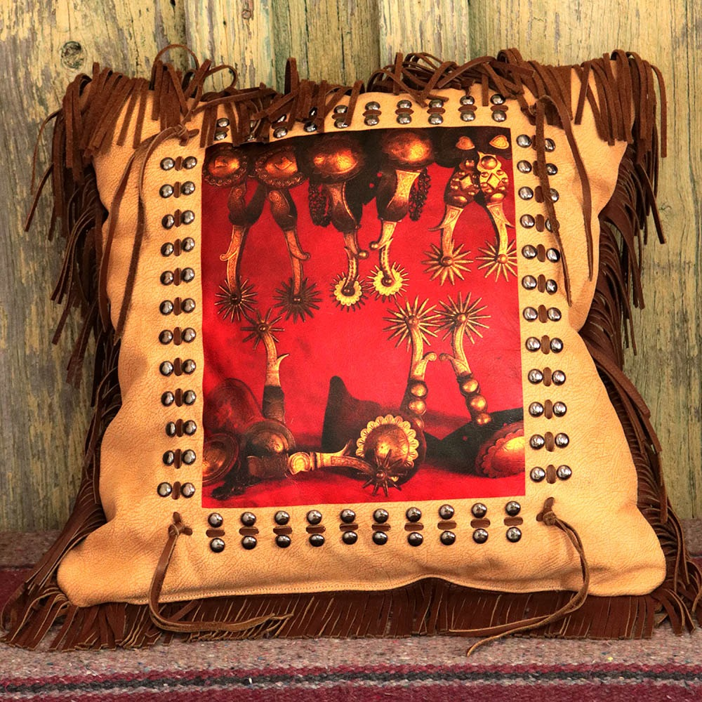 Vaquero Spurs Pillow