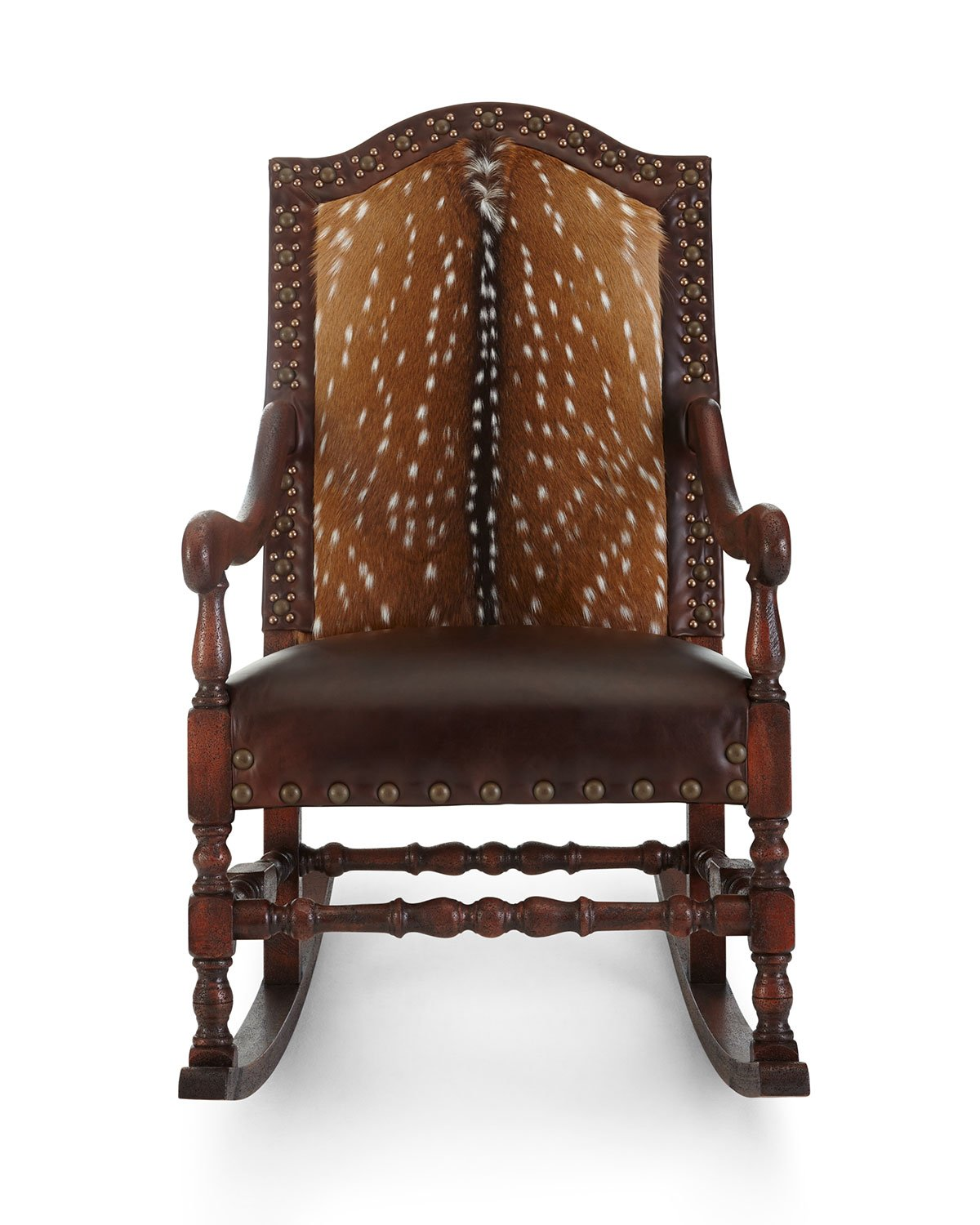 Axis Deer Rocking Chair - Old Hickory Tannery