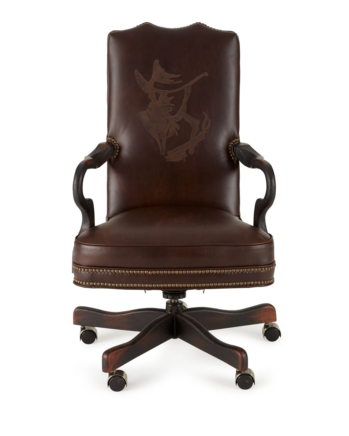 Clide Leather Office Chair in Sunslinger - Old Hickory Tannery
