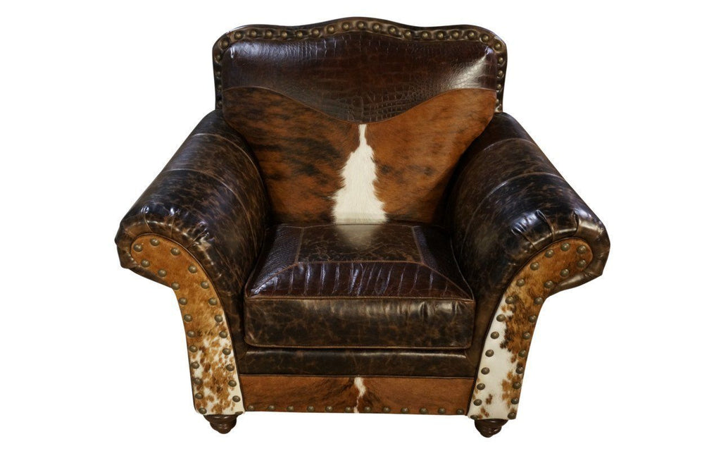 Old West Cowhide Club Chair
