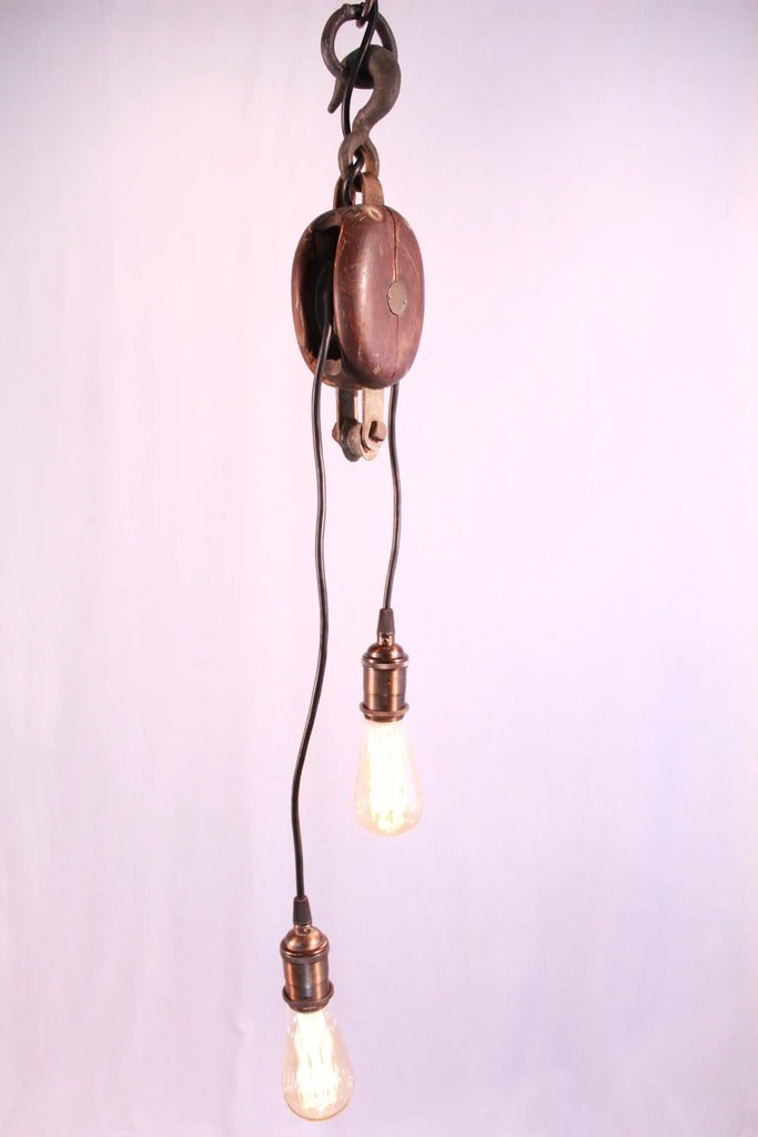 Double Wire Pulley Pendant