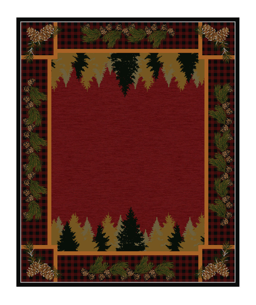 American Dakota National Park Plaid Woodsman - Red