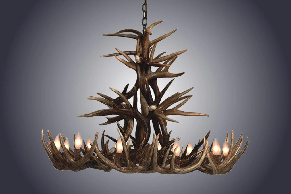 10 Light Whitetail Cascade Antler Chandelier (SKU-106)