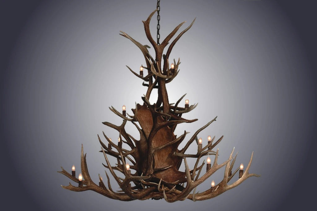 20 Light Small Paul Bunyan Antler Chandelier (SKU-117S)