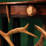 Demi Lune Oak & Antler Accents Sofa Table (ST-4)