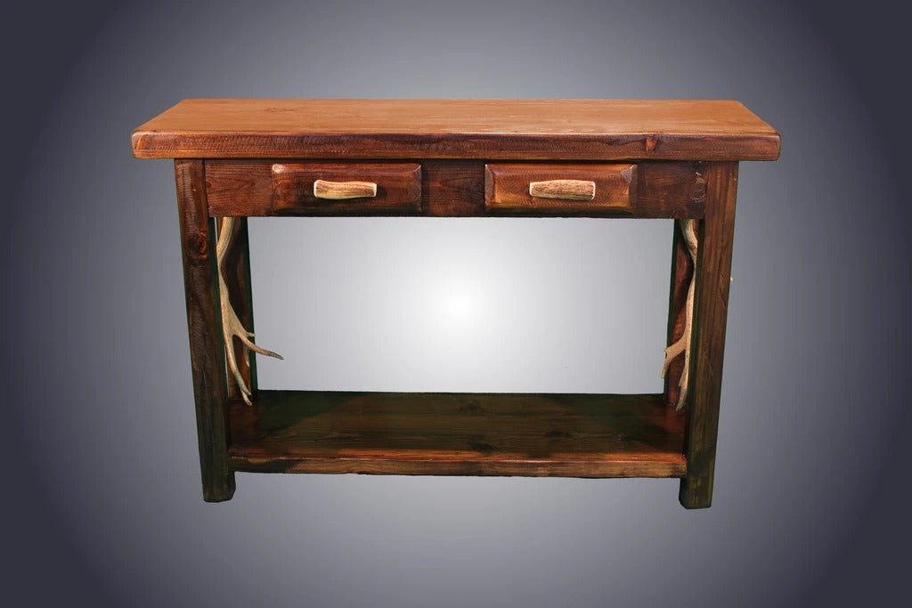 Pine Sofa Table With Antler Handles (ST-6)