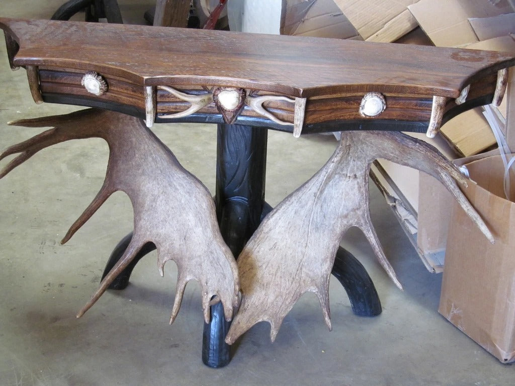 Scalloped Moose Console Table (ST-8)