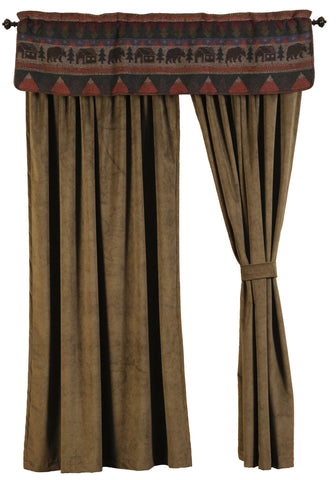 "Cabin Bear - Drape Set 108""x84"""