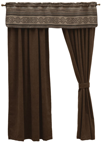 "Lodge Lux - Drape Set 106""x84"""