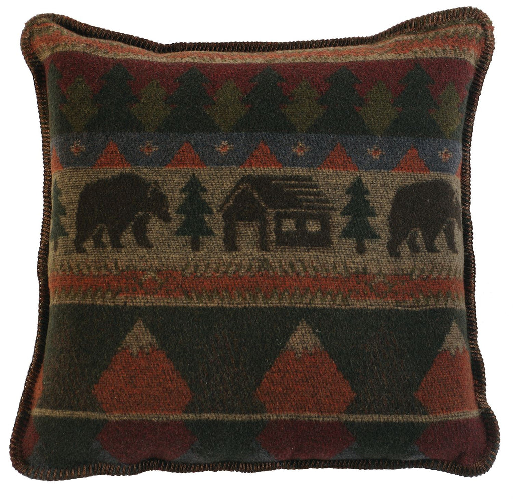 "Cabin Bear - Pillow  20""x20"""