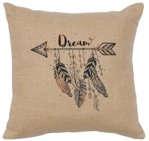 "Linen Image - Pillow 16""x16"" - Dream - Natural"