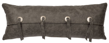"Leather - Pillow 10""x26"" - Leather Back"