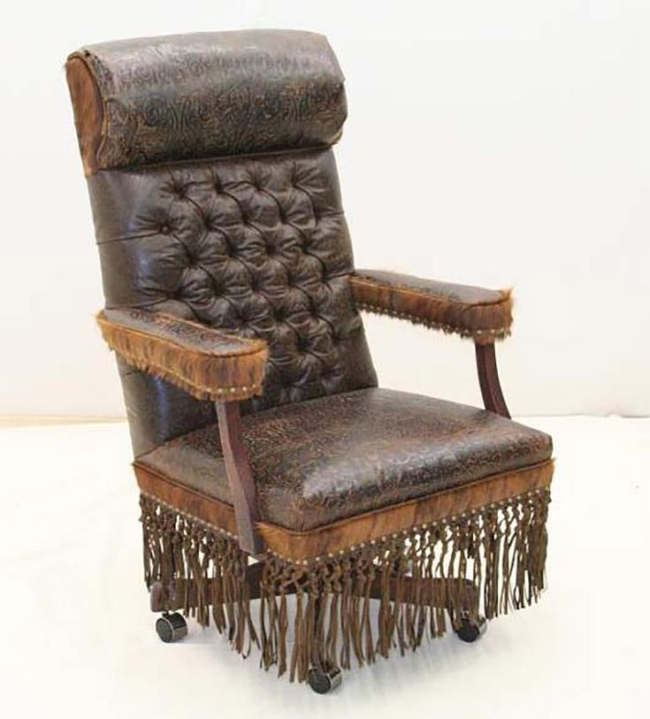 Cowboy is King Desk Chair - Old Hickory Tannery