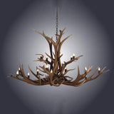 16 Light Double Tier Elk Antler Chandelier (SKU-90)