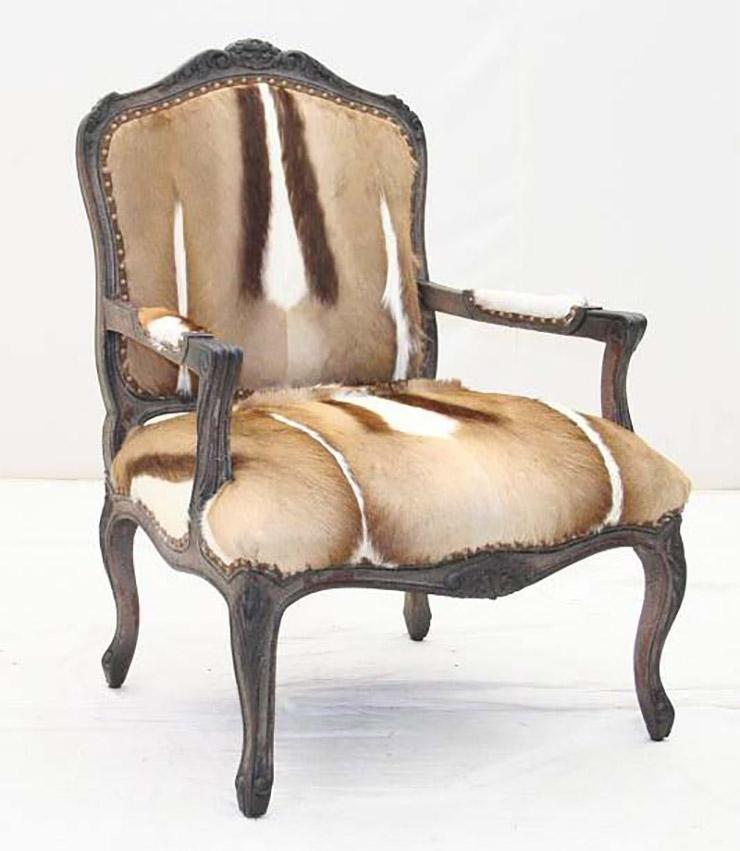 Springbok Hide Accent Chair - Old Hickory Tannery