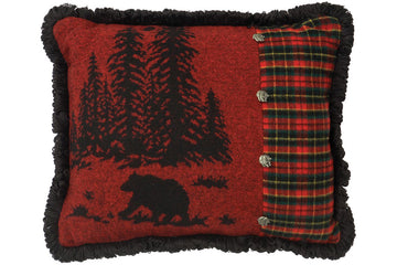 Wooded River Bear Pillow 16x20