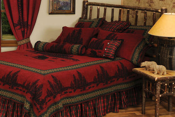 Wooded River Bear Bedspread