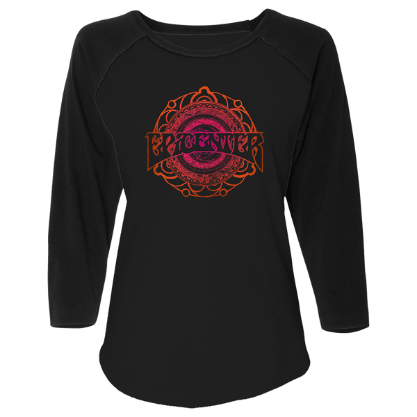 Black Circular Ladies Raglan
