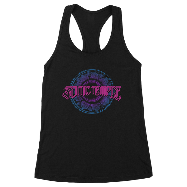 Flower Speaker Black Tank Top