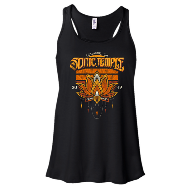 Lotus Black Tank Top