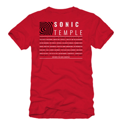 Spiral Red Lineup Tee