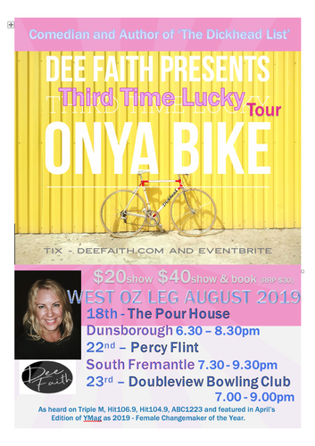 Onya Bike - Third Time Lucky Tour. Doubleview Bowling Club