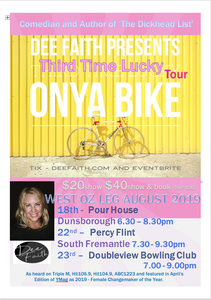 Onya Bike - Third Time Lucky Tour. Percy Flint South Freo - Legend Gig!
